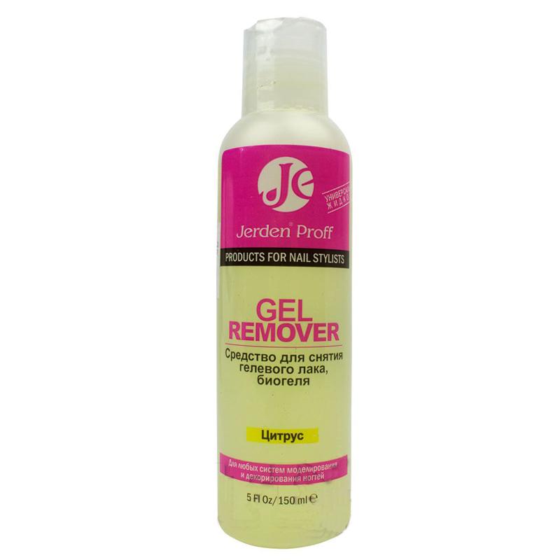 Купить Снятие гель-лака Jerden Proff, Средство для снятия гель-лака Gel Remover Jerden Proff Цитрус 150 мл