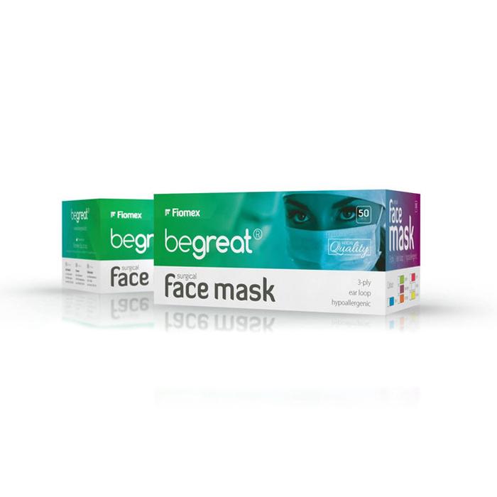 Купить Маски медицинские Fiomex, Хирургические маски Fiomex оранжевые premium 50 шт