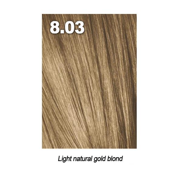 Купить Краска для волос Indola Indola, Краска для волос Indola Permanent Caring Color 8.03 светлый блонд натуральный золотистый 60 мл