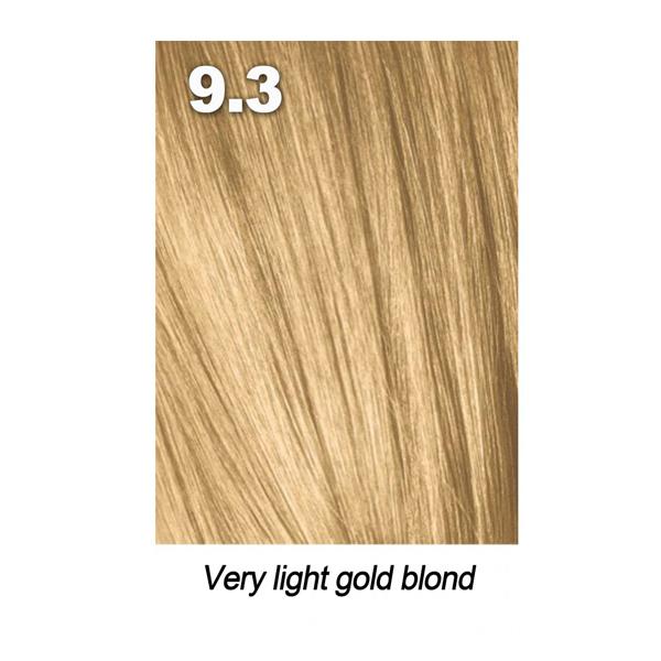 Купить Краска для волос Indola Indola, Краска для волос Indola Permanent Caring Color 9.3 очень светлый блонд золотистый 60 мл