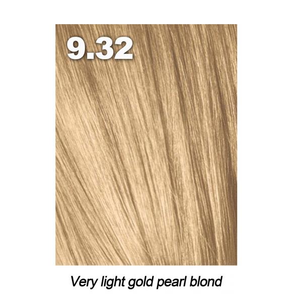 Краски для волос Indola, Краска для волос Indola Permanent Caring Color 9.32 очень светлый блонд золотисто-бежевый 60 мл  - купить со скидкой