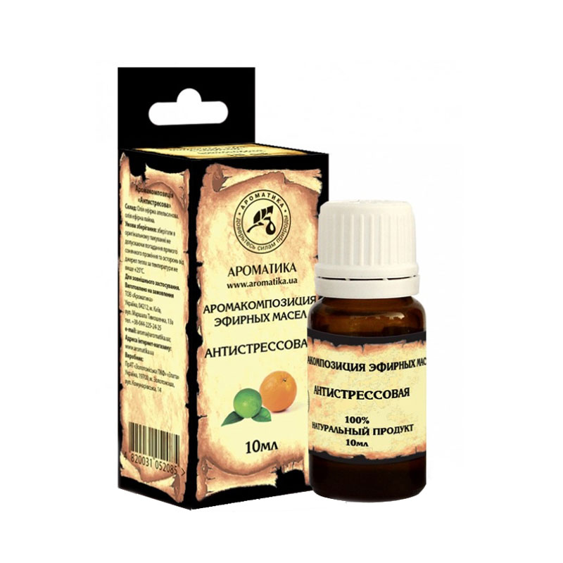 Купить Эфирные масла Ароматика, Эфирное масло Ароматика Аромакомпозиция Антистрессовая 10 мл