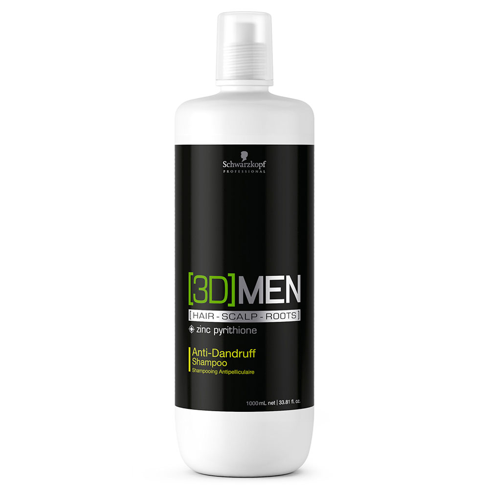 Купить Шампуни Schwarzkopf, Шампунь мужской Schwarzkopf 3D Men Anti-Dandruff Shampoo против перхоти 1000 мл