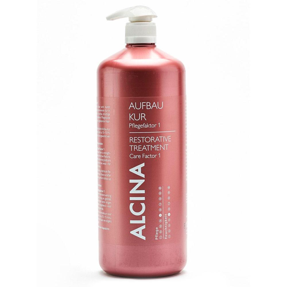 Купить Кремы для волос Alcina, Восстанавливающее лечение Alcina Care Factor 1 для поврежденных волос 1250 мл