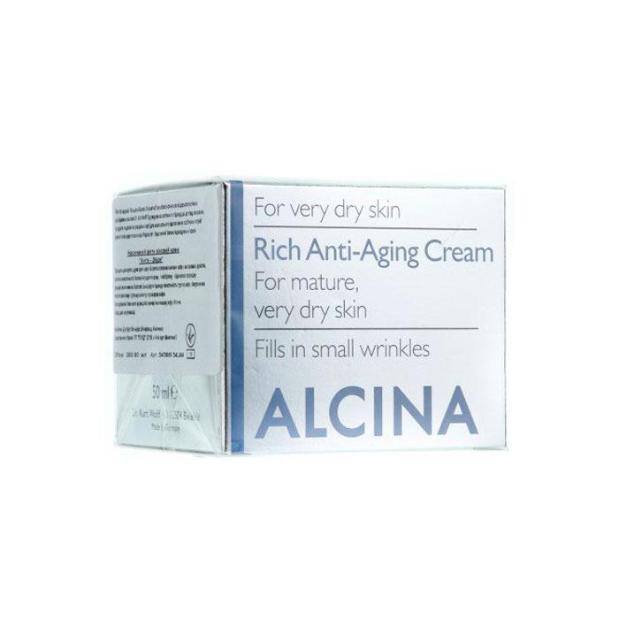 alcina Антивозрастной крем для лица Alcina T Rich Anti Age-Creme питательный 50 мл