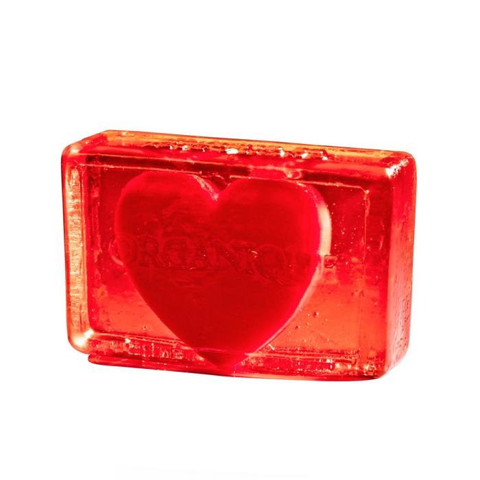 Купить Мыло Organique, Глицериновое мыло куб Organique Сердце в прозрачном 100 г