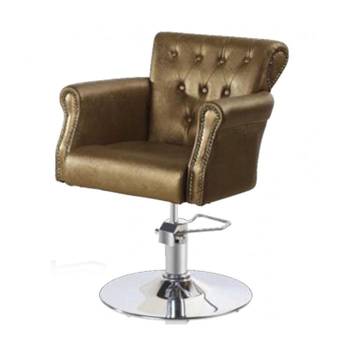 Купить Парикмахерская мебель Tico, Кресло парикмахерское Tico BM 68451 на гидравлическом подъемнике медный