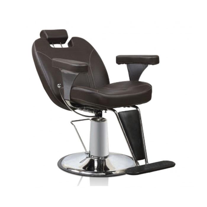 Купить Парикмахерская мебель Tico, Кресло парикмахерское Tico BM 68470 на гидравлическом подъемнике для барбера коричневый ромб
