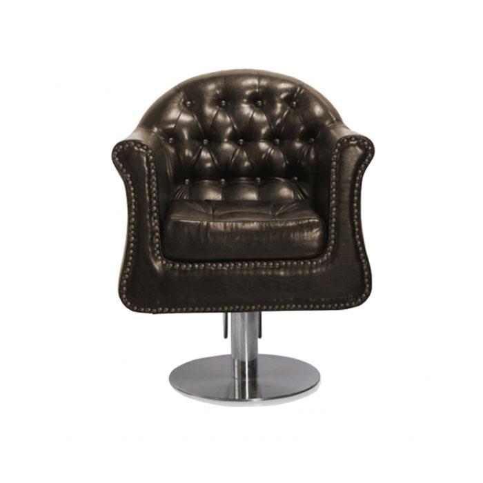 Купить Парикмахерская мебель Tico, Кресло парикмахерское Tico BM 68481 на гидравлическом подъемнике коричневый жатый