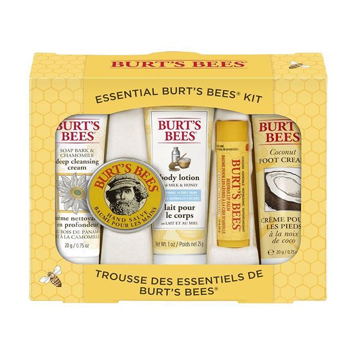 Купить Уход за телом Burt's Bees, Набор бальзам для губ и уход за телом Burt's Bees Multi 5-Pack Essential Kit лосьон для тела, крем для стоп, крем-мазь, очищающий крем