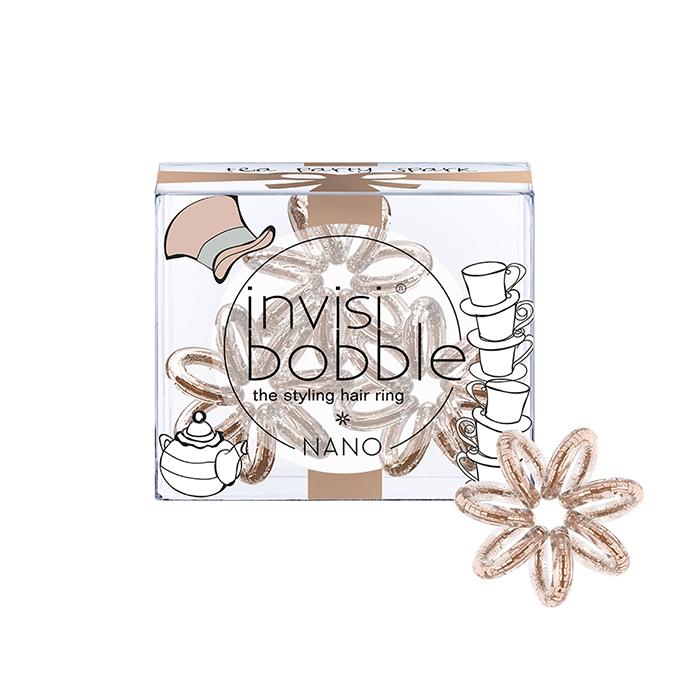 Купить Парикмахерские инструменты Invisibobble, Резинка-браслет для волос Invisibobble Nano Tea Party Spark
