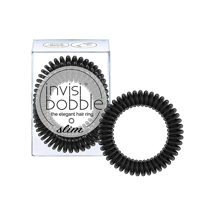 Купить Парикмахерские инструменты Invisibobble, Резинка-браслет для волос Invisibobble Slim True Black