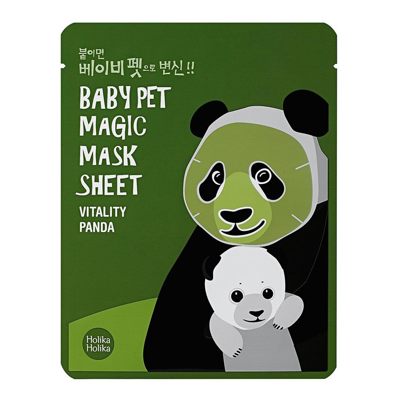 Купить Маски для лица Holika Holika, Тканевая маска для лица Holika Holika Baby Pet Magic Mask Sheet Vitality Panda Панда против темных кругов под глазами 22 мл