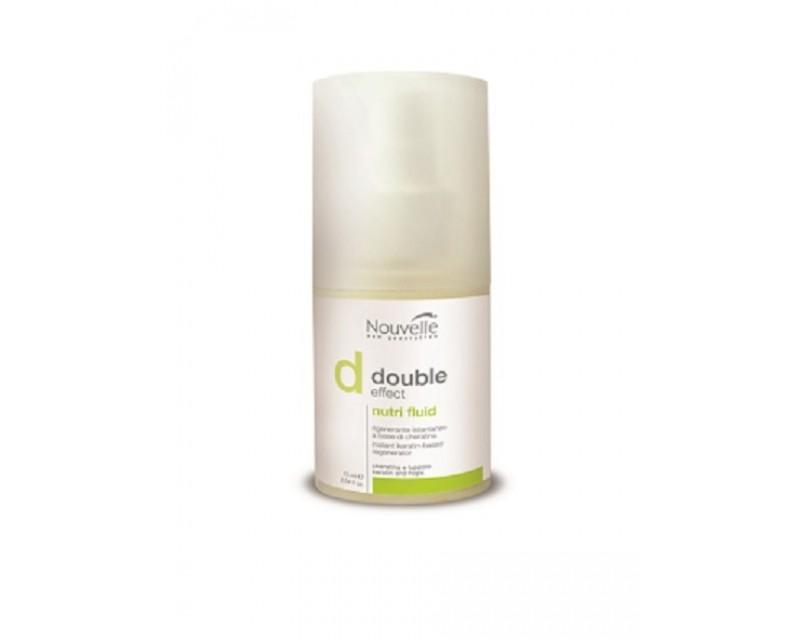 Купить Масла для волос Nouvelle, Средство Nouvelle Double Effect Nutri Fluid оживляющее для волос на основе кератина 75 мл
