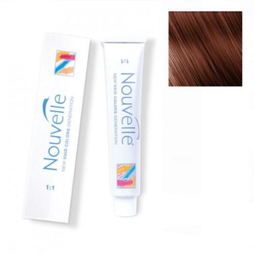 Купить Краска для волос Nouvelle Nouvelle, Крем-краска для волос Nouvelle Hair Color 6.7 орех 100 мл