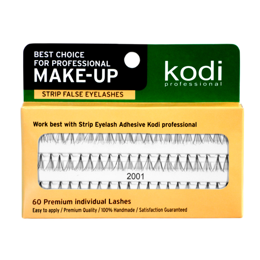 Купить Наращивание бровей и ресниц Kodi, Ресницы накладные пучковые Kodi 2001