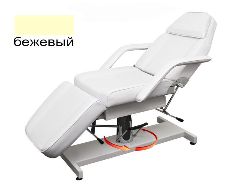 b.s.ukraine Косметологическая кушетка B.S.Ukraine 210A с гидравлической регулировкой высоты бежевая