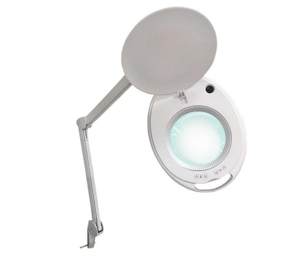 asf Лампа-лупа настольная ASF 6027K-H LED 5D белая с регулировкой яркости холодный и теплый свет 1-12 W