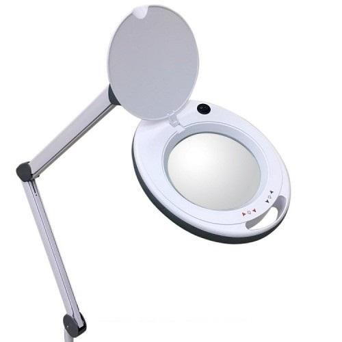 asf Лампа-лупа настольная ASF 6014 LED 5D белая с регулировкой яркости холодный и теплый свет 1-12 W
