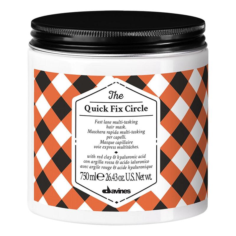 Купить Маски для волос Davines, Маска Davines The Circle Chronicles The Quick Fix Circle для разглаживания волос с гиалуроновой кислотой 750 мл