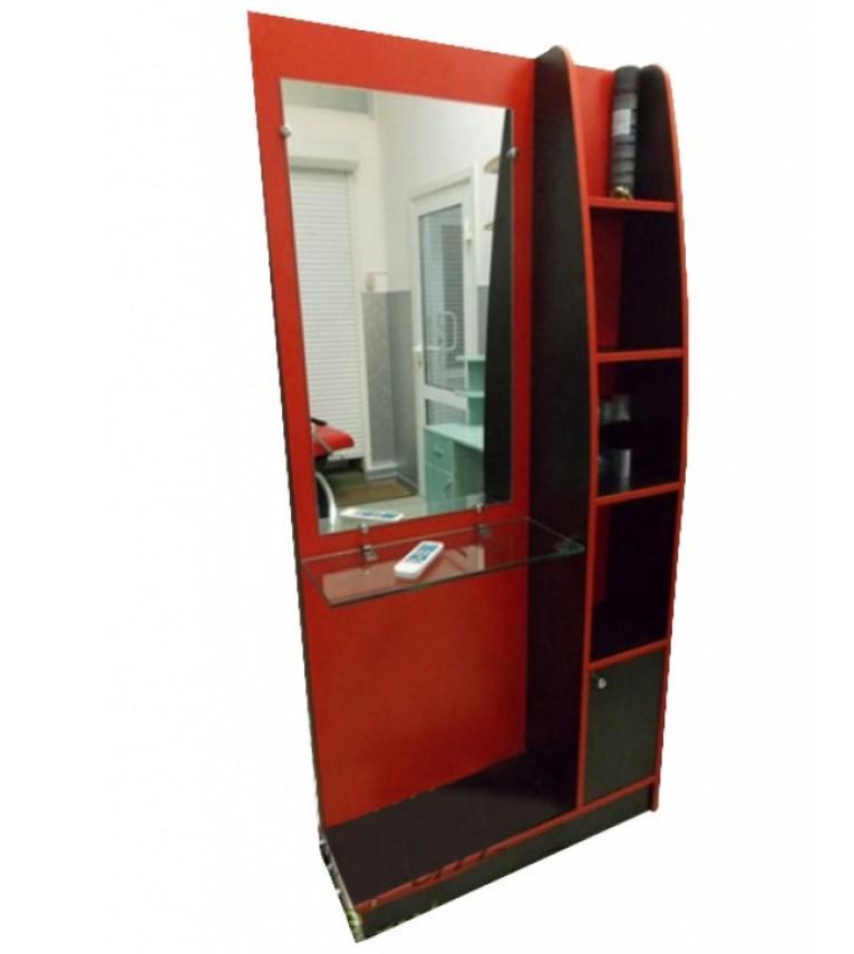Купить Парикмахерская мебель Mebel Studio, Рабочее место парикмахера Mebel Studio Red Black
