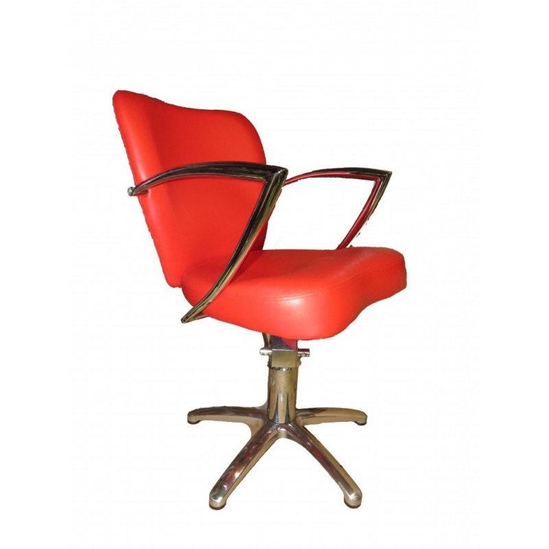 Купить Парикмахерская мебель Mebel Studio, Парикмахерское кресло клиента Mebel Studio с хромированными подлокотниками 6002