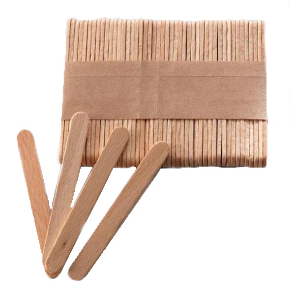 silk & soft Шпатель деревянный Silk Soft узкий 100 шт 116937