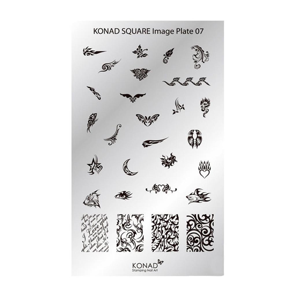 Купить Пластины для стемпинга Konad, Квадратная пластина Konad SQ07 Square Image Plate
