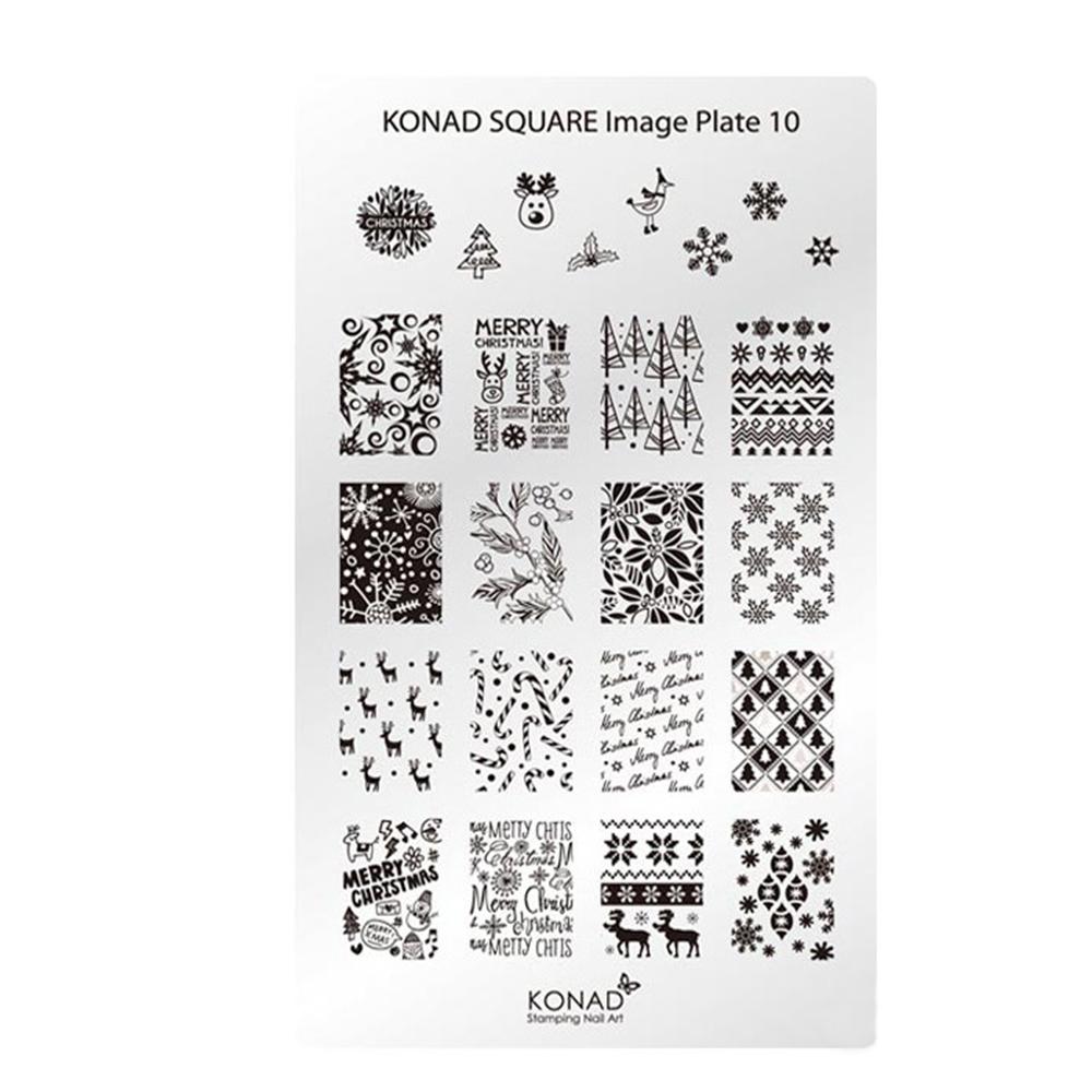Купить Пластины для стемпинга Konad, Квадратная пластина Konad SQ10 Square Image Plate