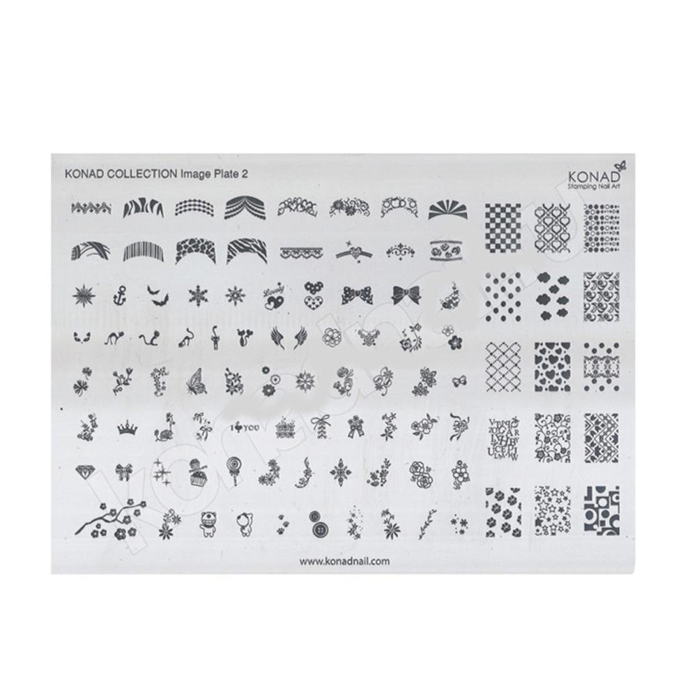 Купить Пластины для стемпинга Konad, Пластина для стемпинга Konad Collection Image Plate 2