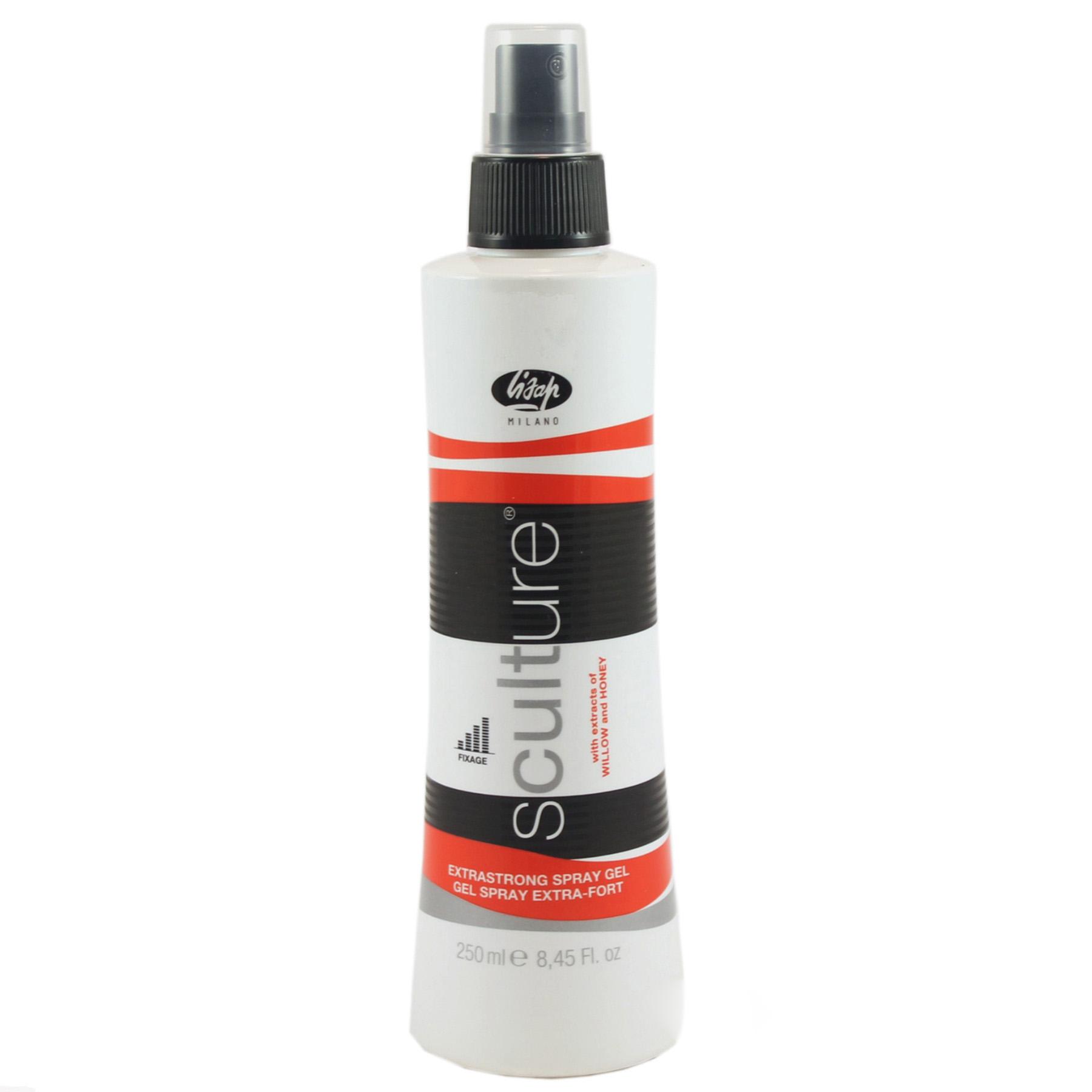 Купить Стайлинг волос Lisap, Гель-спрей для волос Lisap Sculture Spray Gel Extrastrong экстра сильной фиксации 250 мл