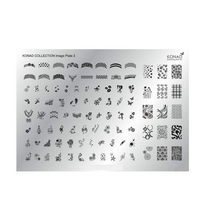 Купить Пластины для стемпинга Konad, Пластина для стемпинга Konad Collection Image Plate 3