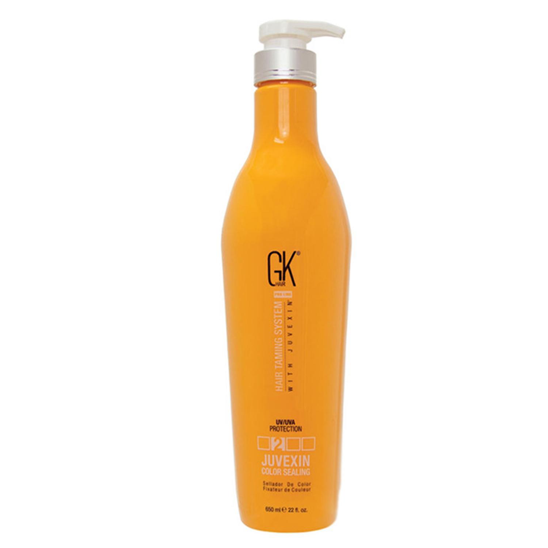 Купить Лосьоны для волос Global Keratin, Экспресс-кератин GK Hair Taming Color Sealing для закрепления цвета волос после окрашивания с УФ защитой 650 мл