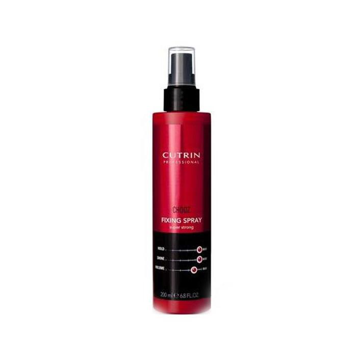 Купить Стайлинг волос Cutrin, Лак-спрей для волос Cutrin Chooz Fixing Spray Super Strong экстра-сильной фиксации 200 мл