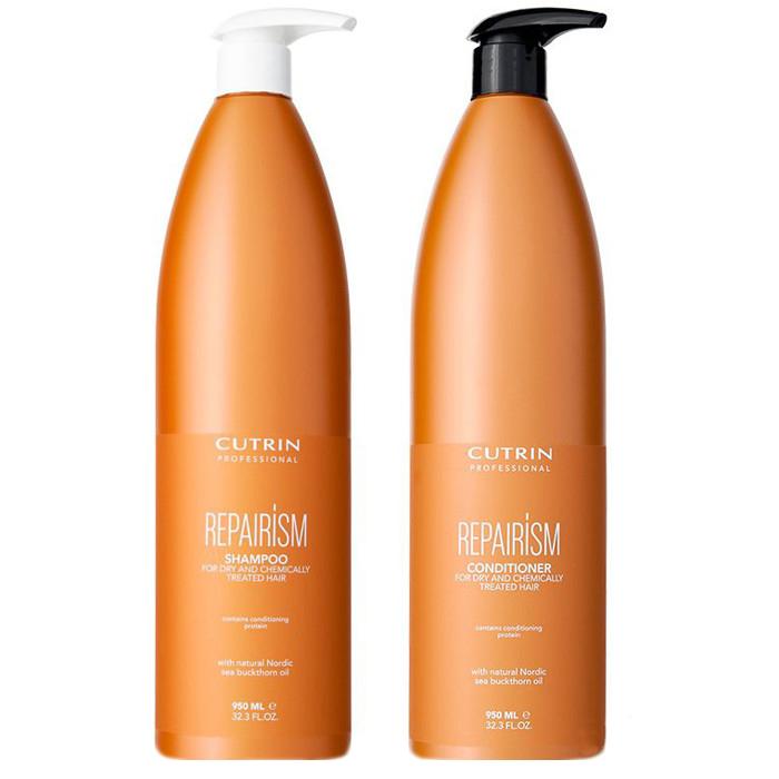 Шампуни Cutrin, Набор Cutrin №18 Repair ISM Set Proff для сухих и химически поврежденных волос 2000 мл  - купить со скидкой