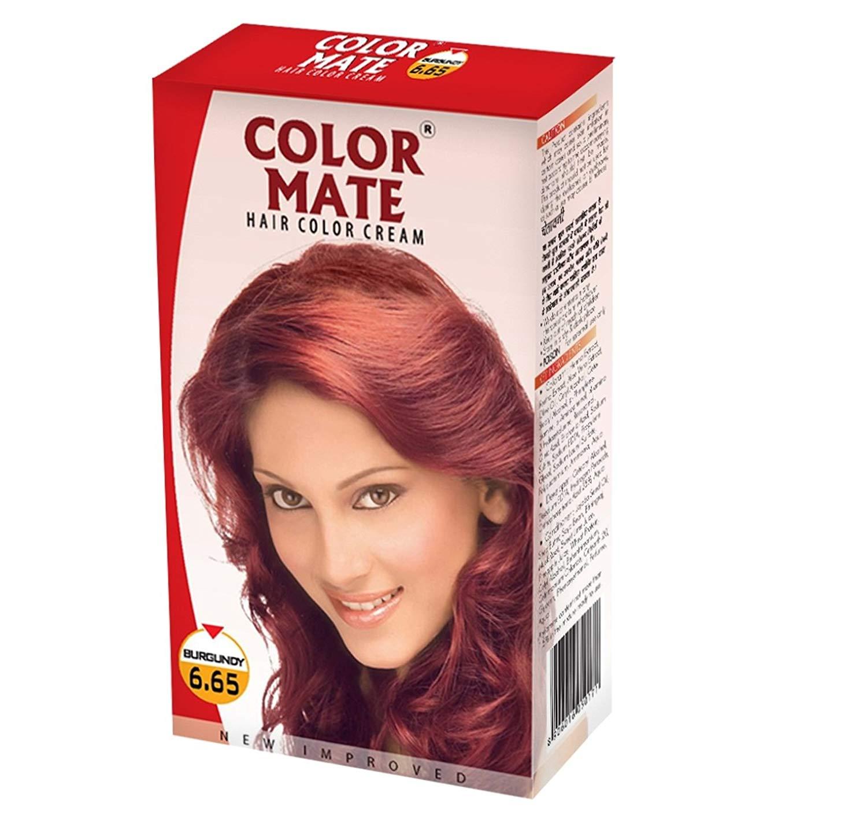 Купить Краска для волос Color Mate Color Mate, Крем-краска Color Mate Hair Burgundy 130 мл