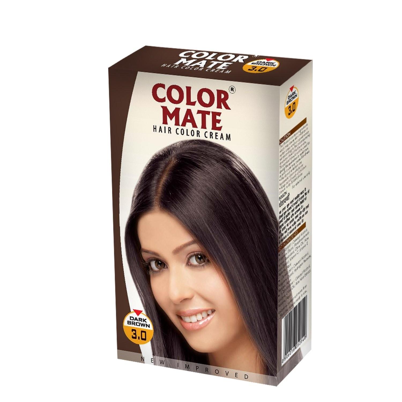 Купить Краска для волос Color Mate Color Mate, Крем-краска Color Mate Hair Dark Brown 130 мл