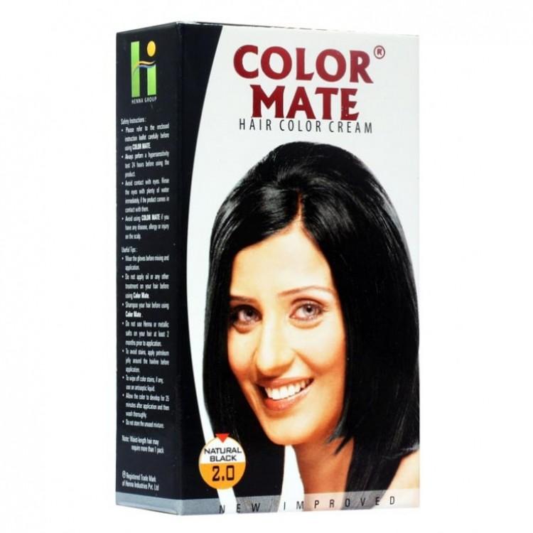 Купить Краска для волос Color Mate Color Mate, Крем-краска Color Mate Hair Natural Black 130 мл