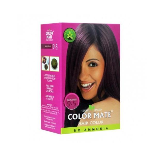 Купить Краска для волос Color Mate Color Mate, Хна для волос натуральная Color Mate Mahogany 5 х 15 г