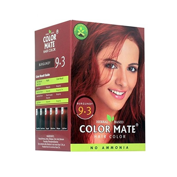 Купить Краска для волос Color Mate Color Mate, Хна для волос натуральная Color Mate Burgundy 5 х 15 г