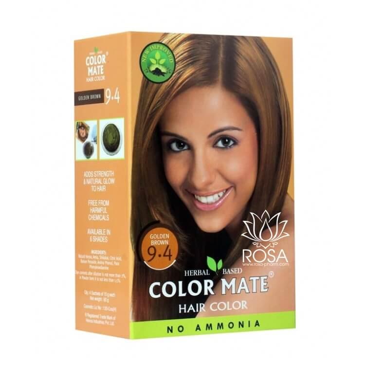 Купить Краска для волос Color Mate Color Mate, Хна для волос натуральная Color Mate Golden Brown 5 х 15 г