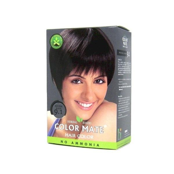 Купить Краска для волос Color Mate Color Mate, Хна для волос натуральная Color Mate Natural Black 5 х 15 г