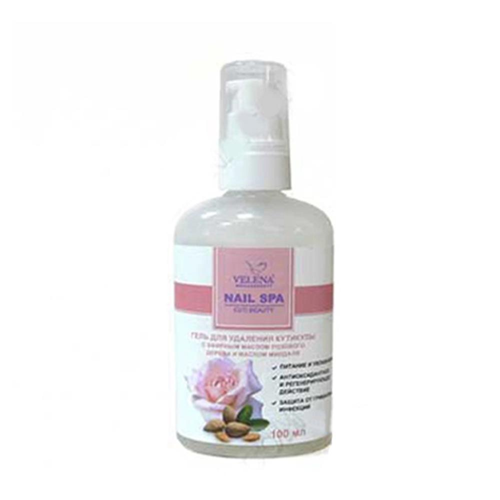 Купить Удаление кутикулы Velena, Гель для удаления кутикулы Velena с эфирным маслом розового дерева и маслом миндаля 100 мл