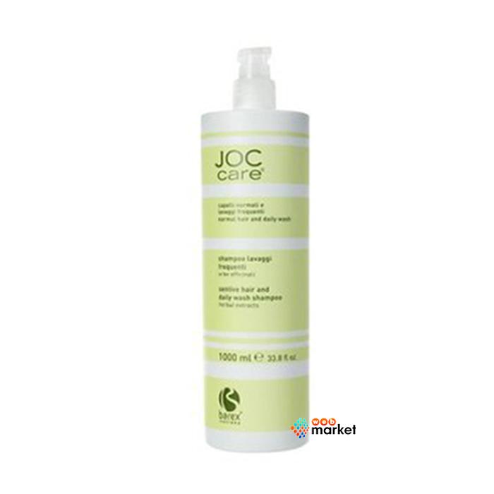 Купить Шампуни Barex, Шампунь Barex Italiana Joc Care для частого мытья чувствительной кожи головы с экстрактом трав 1000 мл