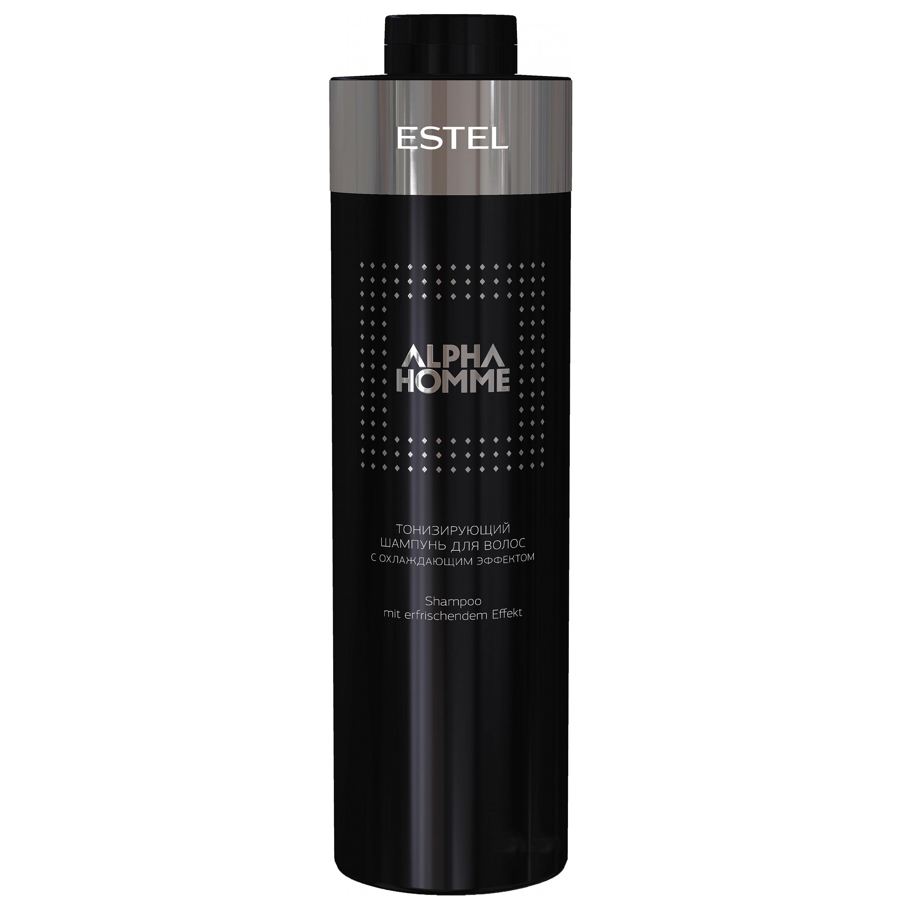 Купить Шампуни Estel, Тонизирующий шампунь Estel Alpha Homme для волос с охлаждающим эффектом 1000 мл