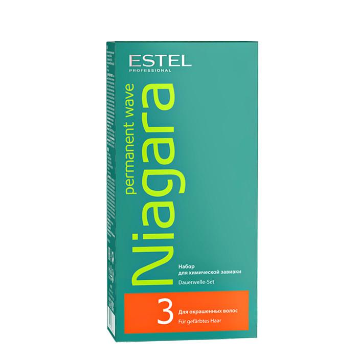 Химическая завивка Estel, Набор для химической завивки Estel Niagara Permanent для окрашенных волос 100 мл + 100 мл  - купить со скидкой