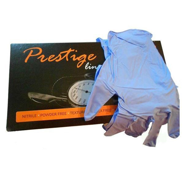 Купить Одноразовые перчатки Prestige Line, Перчатки нитриловые Prestige Line M неопудренные 100 шт