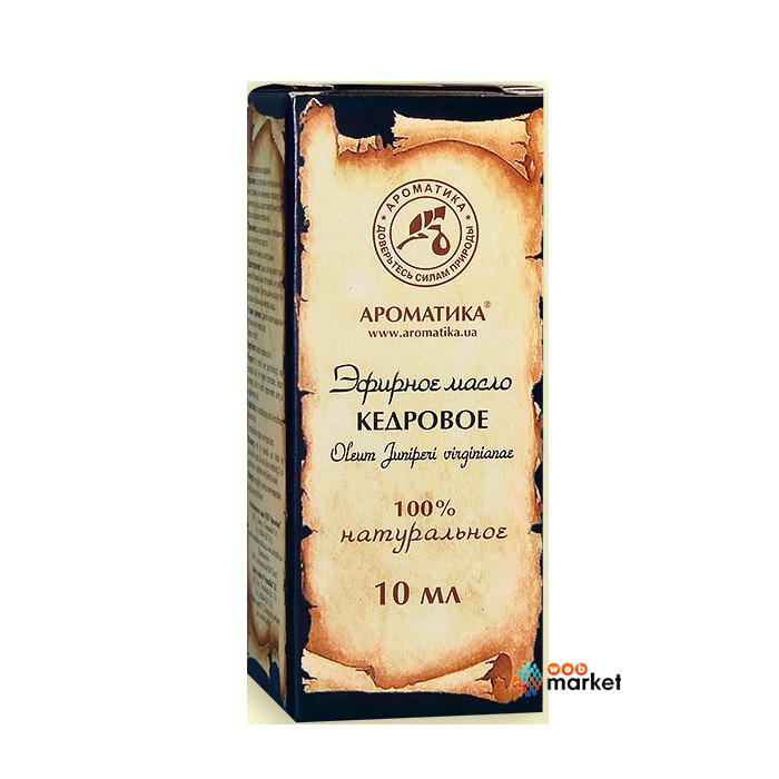 Эфирные масла Ароматика, Эфирное масло Ароматика Кедровое 10 мл  - купить со скидкой