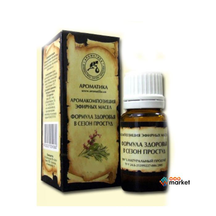 Эфирные масла Ароматика, Формула здоровья Аромакомпозиция Ароматика 10 мл  - купить со скидкой