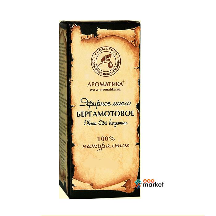 Эфирные масла Ароматика, Эфирное масло Ароматика Бергамотовое 10 мл  - купить со скидкой